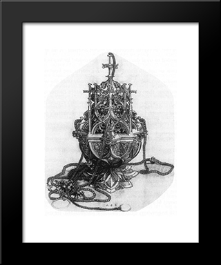 Censer: Modern Black Framed Art Print by Martin Schongauer