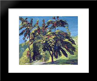 A Nook Of The Peach Garden: Modern Black Framed Art Print by Martiros Saryan