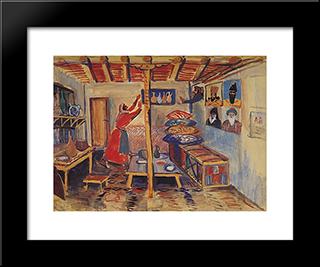A Room: Modern Black Framed Art Print by Martiros Saryan