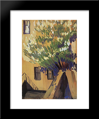 A Tree: Modern Black Framed Art Print by Martiros Saryan