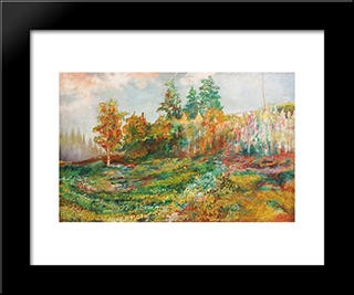 Anticipation Of The Fall: Modern Black Framed Art Print by Martiros Saryan