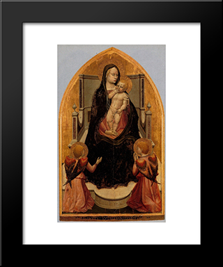 San Giovenale Triptych. Central Panel: Modern Black Framed Art Print by Masaccio