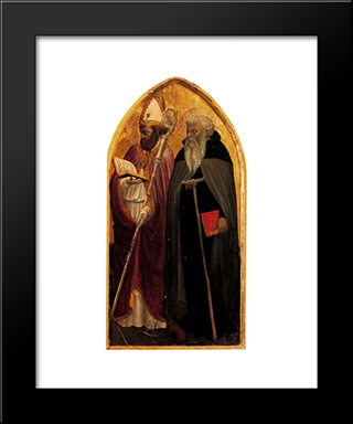San Giovenale Triptych. Right Panel.: Modern Black Framed Art Print by Masaccio