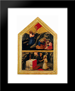 The Agony In The Garden: Modern Black Framed Art Print by Masaccio
