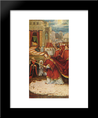 Altarpiece Of Our Lady Of The Snows: Modern Black Framed Art Print by Matthias Grunewald