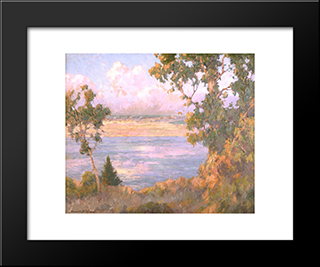Landscape North Island Seen From Point Loma: Modern Black Framed Art Print by Maurice Braun