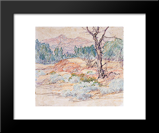 Landscape With Tree: Modern Black Framed Art Print by Maurice Braun