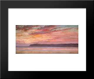 Point Loma Sunset: Modern Black Framed Art Print by Maurice Braun
