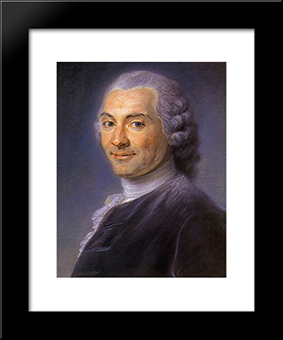 Charles Maron, A Lawyer In Parliament: Modern Black Framed Art Print by Maurice Quentin de La Tour