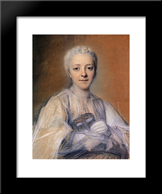 Jeanne Elisabeth De Geer, Baroness Tuyll: Modern Black Framed Art Print by Maurice Quentin de La Tour