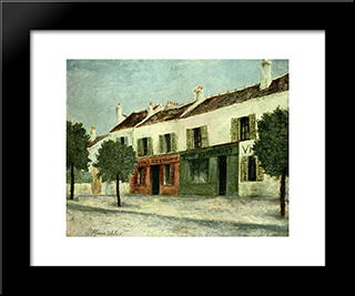 Bistros In A Suburb: Modern Black Framed Art Print by Maurice Utrillo