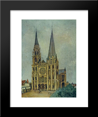 Chartres Cathedral: Modern Black Framed Art Print by Maurice Utrillo