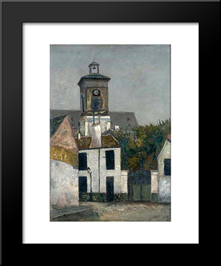 Chuch Of Saint Margerit In Paris: Modern Black Framed Art Print by Maurice Utrillo