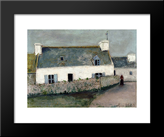Farm On L'Ile D'Ouessant (Finistere): Modern Black Framed Art Print by Maurice Utrillo