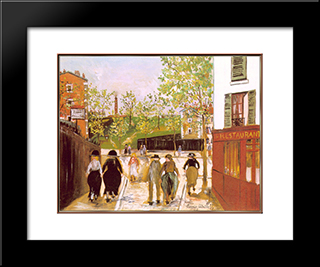 Fortification On The North Of Paris: Modern Black Framed Art Print by Maurice Utrillo