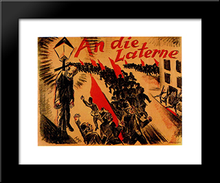 At The Lantern: Modern Black Framed Art Print by Max Pechstein