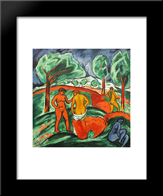 Day Of Steel: Modern Black Framed Art Print by Max Pechstein