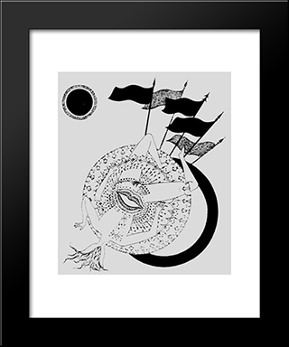 Illustrations For Les Illuminations By Arthur Rimbaud: Modern Black Framed Art Print by Max Walter Svanberg