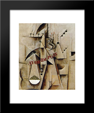Avoirdupois: Modern Black Framed Art Print by Max Weber