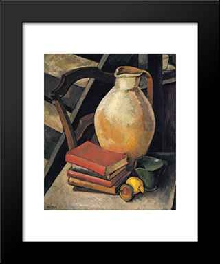 Chardenal Dictionary: Modern Black Framed Art Print by Max Weber