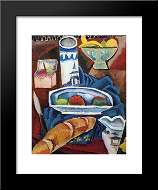 Chinese Bowl: Modern Black Framed Art Print by Max Weber