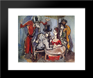 Family Reunion: Modern Black Framed Art Print by Max Weber