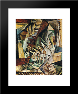 Rush Hour: Modern Black Framed Art Print by Max Weber