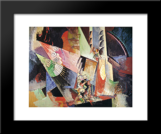Russian Ballet: Modern Black Framed Art Print by Max Weber