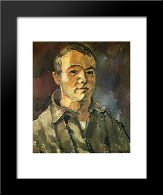 Self Portrait: Modern Black Framed Art Print by Max Weber