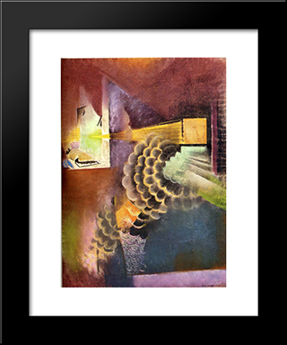 Slide Lecture At The Metropolitan Museum: Modern Black Framed Art Print by Max Weber