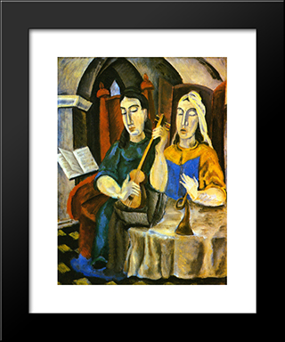 Solo: Modern Black Framed Art Print by Max Weber