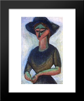 Soloist At Wanamaker'S: Modern Black Framed Art Print by Max Weber