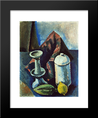 Still Life: Modern Black Framed Art Print by Max Weber