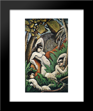Summer: Modern Black Framed Art Print by Max Weber