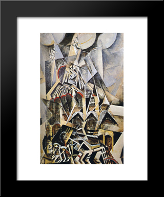 Terminal Station Grand Central: Modern Black Framed Art Print by Max Weber