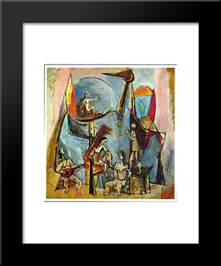 The Muses: Modern Black Framed Art Print by Max Weber