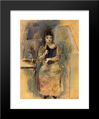 Woman Reading: Modern Black Framed Art Print by Max Weber