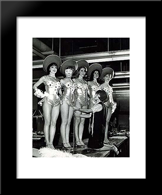 Ridiculous Portrait: Modern Black Framed Art Print by May Wilson