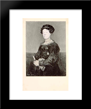 Ridiculous Portrait (Goya Seated Female): Modern Black Framed Art Print by May Wilson