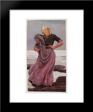 Ridiculous Portrait (Seashore): Modern Black Framed Art Print by May Wilson