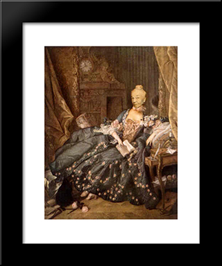Ridiculous Portrait (Seated Woman, Small Book): Modern Black Framed Art Print by May Wilson