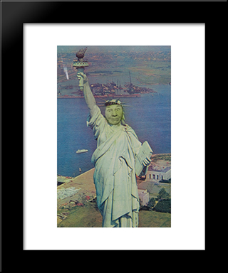Ridiculous Portrait (Statue Of Liberty): Modern Black Framed Art Print by May Wilson
