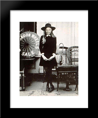 Ridiculous Portrait (Wagon Wheels): Modern Black Framed Art Print by May Wilson