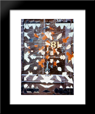 Snowflake Collage (81): Modern Black Framed Art Print by May Wilson