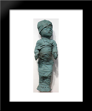 Wrapped Doll (Cat'S Cradle): Modern Black Framed Art Print by May Wilson