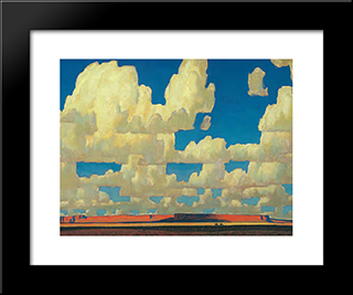 Cloud World: Modern Black Framed Art Print by Maynard Dixon
