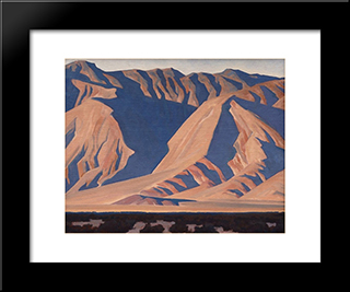 Inyo Mountains: Modern Black Framed Art Print by Maynard Dixon