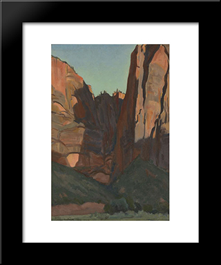 Notch In The Wall, Zion National Park, August 1933: Modern Black Framed Art Print by Maynard Dixon