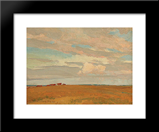 Prairie, Sand Hill Camp, May 1921: Modern Black Framed Art Print by Maynard Dixon