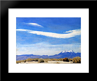 The Cloud, Coachella Valley, California: Modern Black Framed Art Print by Maynard Dixon